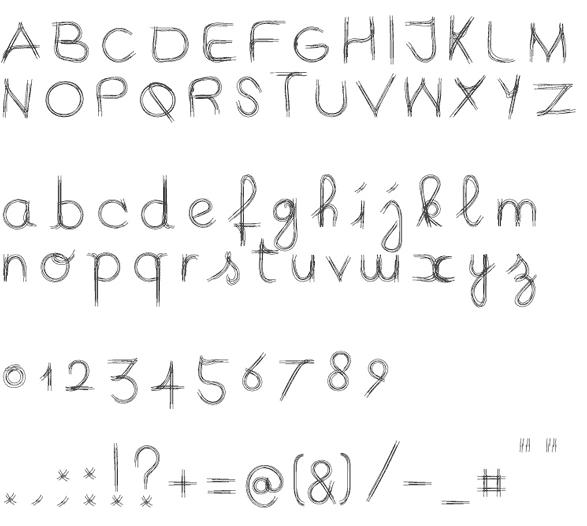 iQ font. character set. image