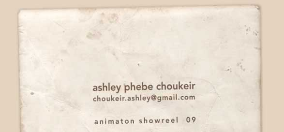 Ashley Choukeir (phebe) animation Demo Reel