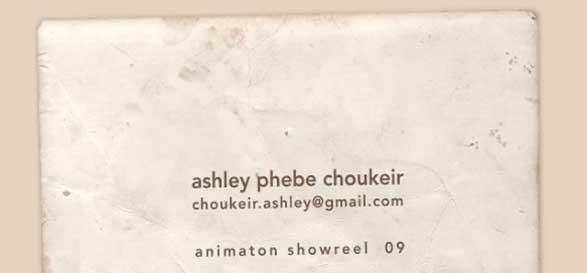 Ashley Choukeir (phebe) animation Demo Reel